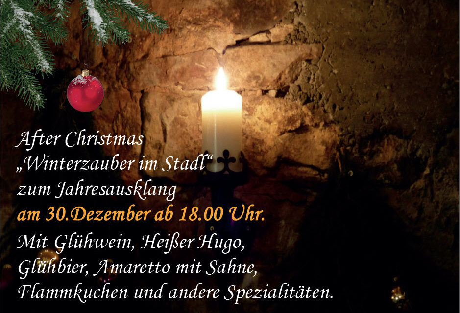 "After Christmas ""Winterzauber im Stadl"""