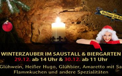 Winterzauber im Saustall & Biergarten