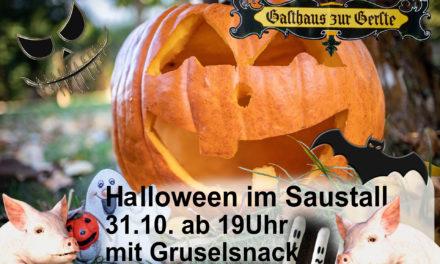 Halloween im Saustall
