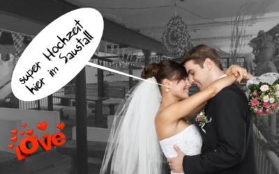 Hochzeit – Polterabend im Saustall