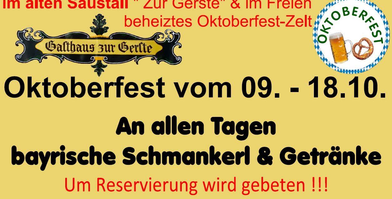 Oktoberfest Wochen